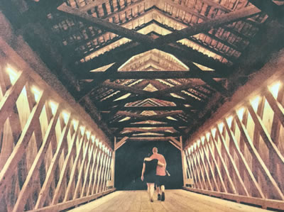 Pine Valley Covered Bridge, Lit to Celebrate 175th Birthday