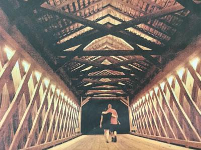 Pine Valley Covered Bridge, Lit to Celebrate 175th Birthday
